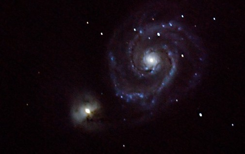 Whirlpool Galaxy, image taken at Windsor's Hallam Observatory
